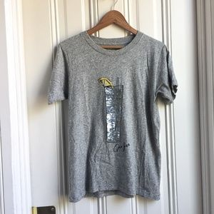 J. Crew Sequin Gin Fizz Bubbly Graphic T Shirt